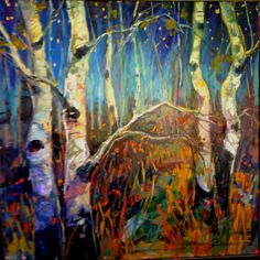 """Aspens in starlight"" by Sean Shrum"