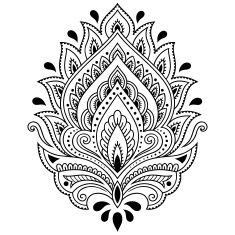 henna-tattoo-flower-template-in-indian-style-ethnic-paisley-lotus-vector-id587815946 (235×235)