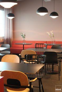 interior architecture by RÄIHÄ interiors | office design, modern office, go-working, kahvio, kafé, trend colors 2017. Interior design Päivi&Lars Räihä, 2016