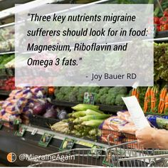 Next time you go #food shopping, load up on nutrients that'll help prevent #migraine attacks. Nutritionist @JoyBauer explains in our 1:1 interview. https://migraineagain.com/skipping-meals-migraines/?utm_campaign=coschedule&utm_source=pinterest&utm_medium=Migraine%20Again&utm_content=Why%20Skipping%20Meals%20Can%20Trigger%20Migraines%20and%20How%20to%20Avoid%20It