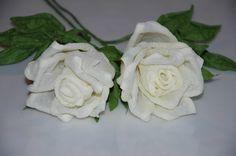 Цветы из бумаги - Белые розы своими руками MK