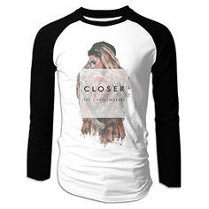 ARTBee Closer The Chainsmokers Halsey Men's Long Sleeve Raglan T Shirts Black