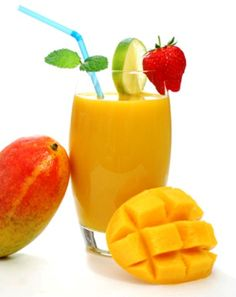 Mango Peach Smoothie...1 peach, pit removed (best when fresh in season, but frozen will do fine)    1 mango, peeled and diced    ½ cup vanilla milk (soy, almond or hemp)    ½ cup orange juice