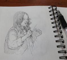 Развитое обоняние - признак высокого интеллекта.  #drawing #illustration #portrait #sketch #pencil #sketchbook #art #artwork #painting #eskiz #topcreator #портрет #рисунок #карандаш #набросок #эскиз