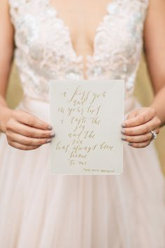 Romantic calligraphy quote | Shauna Veasey | see more on: http://burnettsboards.com/2015/10/organic-countryside-wedding/