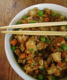 Jo and Sue: Cauliflower Prawn Fried Rice