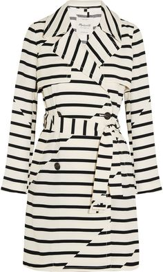 Madewell Parcel Striped Crepe Trench Coat