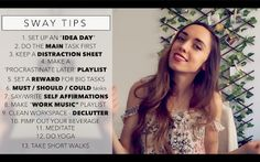 """PRODUCTIVITY - HACK YOUR BRAIN! - DAY 12 """"TYLA CHALLENGE""""  #productivity  Welcome to day 12 of the turn your Life Around Challenge! Today I share with you productivity systems/methods from 4 of my favorite books and 13 tips to make your day more productive and become more motivated and efficient :) Work smart not hard!      Subscribe: http://bit.ly/2pedQ46 PRODUCTIVITY - HACK YOUR BRAIN! - DAY 12 """"TYLA CHALLENGE"""""""