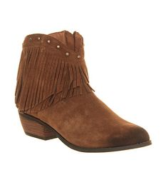Minnetonka Bandera Boot Dusty Brown Suede - Ankle Boots