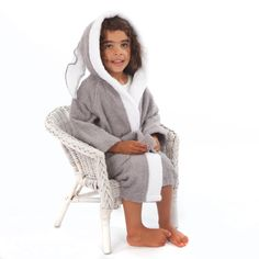 Childrens towelling Rabbit bathrobe