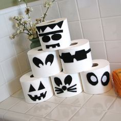 halloween fun crafts kids..Toilet Paper Disguises @Michelle White Nothvogel you NEED to do this in your little bathroom!! SUPER easy!