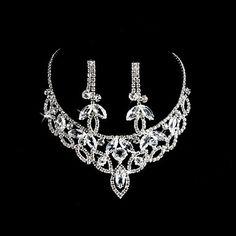 Elegante legering met Steentjes Wedding bruids sieraden set inclusief ketting en oorbellen - EUR € 15.83