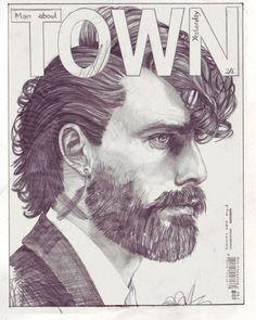 Ilustraciones de portadas de revistas por John Paul Thurlow