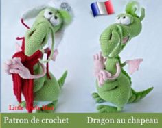 026F Patron d'amigurumi au crochet. Dragon frileux. Fichier PDF. Par Astashova Etsy