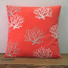 Two coral nautical pillow covers cushion by ThatDutchGirlHome