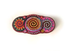 Hey, I found this really awesome Etsy listing at https://www.etsy.com/listing/214949085/frida-hair-clip-bead-embroidered