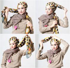 Tutorial Hijab Turban Tanpa Peniti ala Nada Puspita