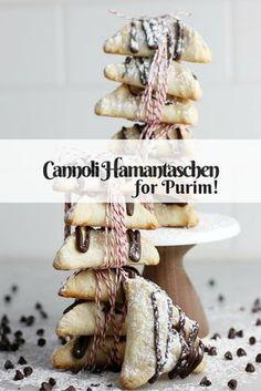 Make these fun cannoli hamantaschen for an easy Italian twist on the Purim treat!