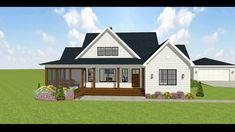 Architectural Designs Modern Farmhouse House Plan 28923JJ take a look at all of it's stunning beauty as we take a 360° look at the exterior in 3D! This farmhouse is perfect coming in just under 1700 Sq Ft with 3 beds and 2 baths!  1,697 Square Feet | 3 Bedrooms | 2 Full Baths | 2 Car Detached Garage New House Plans, Country House Plans, Modern House Plans, Basement House Plans, House Plans One Story, One Story Homes, Modern Farmhouse Exterior, Farmhouse Homes, Country Farmhouse Decor