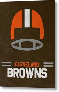 Browns Metal Print featuring the mixed media Cleveland Browns Vintage Art by Joe…