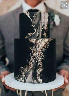 Trendy Wedding Cakes black wedding 100 Most Beautiful Wedding Cakes For Your Wedding! Black Wedding Cakes, Beautiful Wedding Cakes, Beautiful Cakes, Amazing Cakes, Cake Wedding, Geode Wedding Cakes, Black Weddings, Gold Wedding, Suprise Wedding
