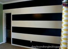 How I Painted a Perfectly Striped Wall {Tutorial} - Dimples and Tangles