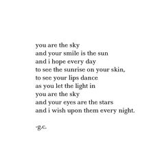 you are the sky. // by Gaby Comprés