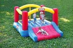 Little Tikes Inflatable Bounce House Party Outdoor Backyard Home w Pump   eBay