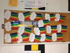 Rainbow Classroom Door Decor By Justmelaura