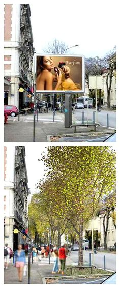 The French city of Grenoble will become the first in Europe to remove all commercial advertising from its streets, with the city's Green mayor promising to replace the signs and billboards with trees and community noticeboards.