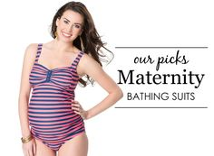 Don't you dare think about backing out of swimsuit season just because you're swimming for two! We gathered some of our favorite maternity swimwear bathing suits for you.