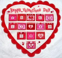 valentine countdown calendar tutorial