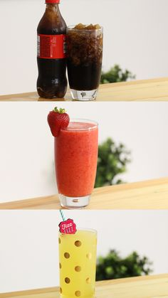 Recipe with video instructions: Satisfy any slurpee craving with Kool-Aid slurpees, healthy slurpees and slurpees with just a bottle of soda! Ingredients: 1 bottle of coke, or any soft drink Fruit Smoothie Recipes, Smoothie Drinks, Healthy Smoothies, Healthy Drinks, Milkshake Recipes, Healthy Breakfasts, Eating Healthy, Healthy Snacks, Clean Eating