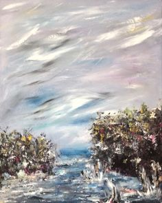 Abstract Acrylic Paintings on Canvas & Paper, by Tina Clancy, Milton, ON