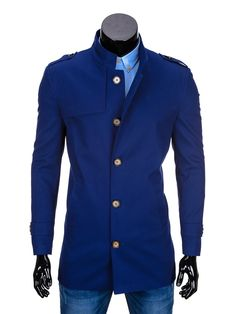 PŁASZCZ C269 - GRANATOWY - Sklep Ombre Sweaters, Jackets, Fashion, Moda, Sweater, Fasion, Pullover, Fashion Illustrations