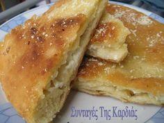 Το τηγανόψωμο είναι μια κλασσική ευβοιώτικη νοστιμιά!!!  Θα το βρείτε σχεδόν σε όλα τα ταβερνάκια στην Εύβοια, όπου μην διστάσετε να το παρα... Different Recipes, Other Recipes, My Recipes, Cooking Recipes, Favorite Recipes, Greek Recipes, Desert Recipes, Greek Bread, Greek Pastries