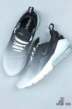 free shipping 2363d 171e7 CUSTOM NIKE AIR MAX BLACK AND WHITE OMBRE 270 s