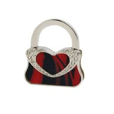 "Amico Handbag Shape Rhinestone Decor Tiger Print Foldable Table Hook by Amico. $6.56. Total Height(Unfolded) : 8cm / 3.1"";Main Color : Silver Tone, Black, Red. Product Name : Handbag Hook;Main Material : Alloy, Faux Leather, Rubber. Weight : 48g. Shape : Handbag;Size(Folded) : 4.5 x 5 x 0.9cm/ 1.8"" x 2"" x 0.4""(L*W*T). Package Content : 1 x Handbag Hook. Suitable for lady to hang their handbag or purse beside a table or desk when dating, chatting, or eatting. Tiger print..."
