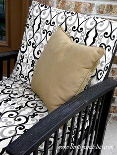 Re Cover A Patio Cushion Diy Genius Pinterest Cushions And