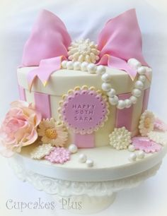 Pink and girly 50th Birthday cake :) x