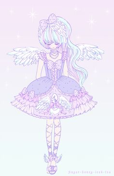 My swan princess fashion Lolita illustration *A*
