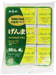 Yamamotoyama Genmai Cha Roasted Brown Rice Green Tea Value Pack, 90 Count Tea Bags, Net Wt. 9.86-Ounce ** Check this awesome product by going to the link at the image.