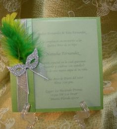 Masquerade invite-this site has tons of decorating ideas too