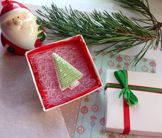 Christmas Tree Brooch Bead Embroidered Brooch Brooch in a
