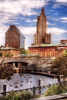 City skyline in Providence, Rhode Island.