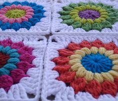 Stitch of Love:  Sunburst Granny Square
