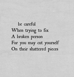 Let people fix themselves.