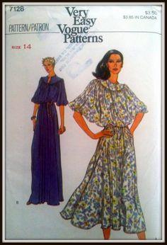 Vogue  7128  Misses' Dress & Belt    Bust 36 by ThePatternShopp, $10.00