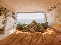 This is a typical week of van life during lockdown in the UK. We also show you how we stay active living in a van doing bike rides, yoga and home workouts! Van Conversion Interior, Van Interior, Conversion Van, Interior Ideas, Bus Life, Camper Life, Camper Van, Mison, Kombi Home