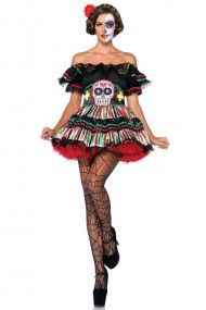 """Leg Avenue Day of the Dead Doll Costume.....**Be """"dead"""" sexy in a very flirty way. You'll be the """"life"""" of the party for sure! #urbanog"""